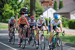 Boels Dolmans have numbers in the breakaway five with Ellen van Dijk and Lizzie Armitstead both present at Boels Hills Classic 2016. A 131km road race from Sittard to Berg en Terblijt, Netherlands on 27th May 2016.