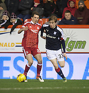 Dundee&rsquo;s Craig Wighton goes past Aberdeen&rsquo;s Ryan Jack - Aberdeen v Dundee in the Ladbrokes Scottish Premiership at Pittodrie, Aberdeen - Photo: David Young, <br /> <br />  - &copy; David Young - www.davidyoungphoto.co.uk - email: davidyoungphoto@gmail.com