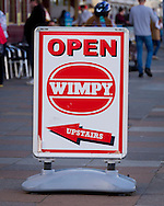 Wimpy Restaurant Sign on High Street