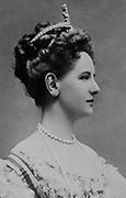 Wilhelmina (Wilhelmina Helena Pauline Maria: 1880-1962)  Queen regnant of the Kingdom of the Netherlands from 1890-1948. Head-and-shoulders photographic portrait of a young Queen Wilhelmina. Royalty Dutch