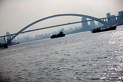 CHINA PUDONG DISTRICT SHANGHAI 23MAY10 - Road bridge crossing the Huangpu River near the Expo site in Shanghai, China...jre/Photo by Jiri Rezac..© Jiri Rezac 2010
