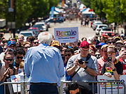 09 JUNE 2019 - DES MOINES, IOWA: US Senator BERNIE SANDERS (Socialist - VT), a Democratic candidate for the US presidency, speaks at Capital City Pride Fest. Many of the Democratic presidential candidates campaigned at Capital City Pride Fest in Des Moines Saturday. Iowa traditionally hosts the the first selection event of the presidential election cycle. The Iowa Caucuses will be on Feb. 3, 2020.                   PHOTO BY JACK KURTZ
