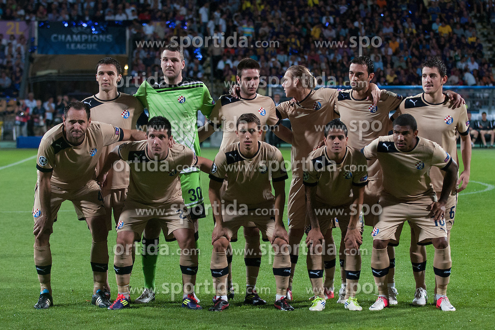 Players of GNK Dinamo Zagreb during Play-offs for Champions League between NK Maribor (Slovenia) and GNK Dinamo Zagreb (Croatia), on August 28, 2012, in Maribor, Slovenia. (Photo by Matic Klansek Velej / Sportida.com)