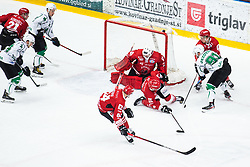 JEZOVSEK Zan vs KOGOVSEK Ziga during Alps League Ice Hockey match between HDD SIJ Jesenice and HK SZ Olimpija on March 2, 2020 in Ice Arena Podmezakla, Jesenice, Slovenia. Photo by Peter Podobnik / Sportida