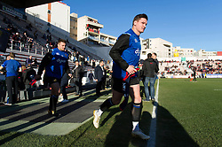 Freddie Burns of Bath Rugby runs onto the field - Mandatory byline: Patrick Khachfe/JMP - 07966 386802 - 09/12/2017 - RUGBY UNION - Stade Mayol - Toulon, France - Toulon v Bath Rugby - European Rugby Champions Cup