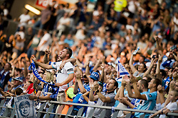 August 27, 2017 - Gent, BELGIUM - Gent's supporters pictured after the Jupiler Pro League match between KAA Gent and RSC Anderlecht, in Gent, Sunday 27 August 2017, on the fifth day of the Jupiler Pro League, the Belgian soccer championship season 2017-2018. BELGA PHOTO JASPER JACOBS (Credit Image: © Jasper Jacobs/Belga via ZUMA Press)