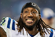 NASHVILLE, TN - DECEMBER 30:  Mo Alie-Cox #81 of the Indianapolis Colts on the field after a game against the Tennessee Titans at Nissan Stadium on December 30, 2018 in Nashville, Tennessee.  The Colts defeated the Titans 33-17.   (Photo by Wesley Hitt/Getty Images) *** Local Caption *** Mo Alie-Cox
