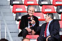 Maire de Toulon Hubert Falco - 05.04.2015 - Toulon / Londres Wasps - 1/4Finale European Champions Cup<br />Photo : Dave Winter / Icon Sport