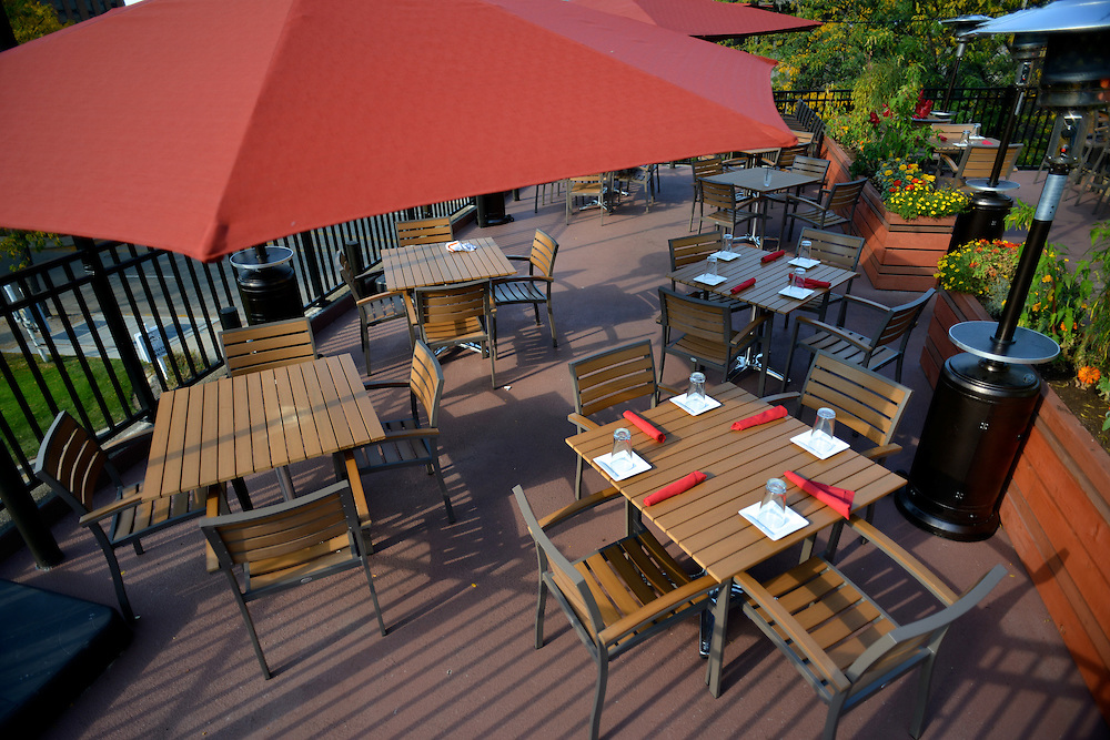 Outdoor seating at Nuevo Modern Mexican & Tequila Bar.