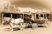 Horse drawn stagecoach, Tombstone, Arizona USA