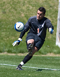 Virginia Cavaliers goalkeeper Michael Giallombardo (1).  The North Carolina State Wolfpack defeated the Virginia Cavaliers 1-0 in NCAA Men's Soccer during a spring scrimmage at the Klockner Stadium practice field on the Grounds of the University of Virginia in Charlottesville, VA on April 4, 2009.