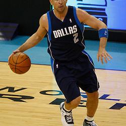 Mar 22, 2010; New Orleans, LA, USA; Dallas Mavericks guard Jason Kidd (2) drives with the ball during the first half against the New Orleans Hornets at the New Orleans Arena. Mandatory Credit: Derick E. Hingle-US PRESSWIRE