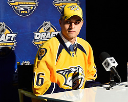 Frederic Allard of the Chicoutimi Saguenees was selected by the Nashville Predators at the 2016 NHL Draft in Buffalo, NY on Saturday June 25, 2016. Photo by Aaron Bell/CHL Images