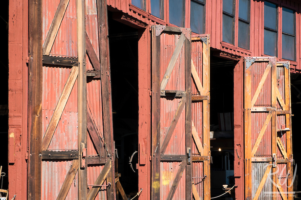 Railtown 1897 SHP Trainyard Doors, Jamestown, California