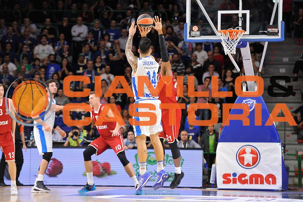 DESCRIZIONE : Eurolega Euroleague 2015/16 Group D Dinamo Banco di Sardegna Sassari - Brose Basket Bamberg<br /> GIOCATORE : Brian Sacchetti<br /> CATEGORIA : Tiro Tre Punti Three Point Controcampo<br /> SQUADRA : Dinamo Banco di Sardegna Sassari<br /> EVENTO : Eurolega Euroleague 2015/2016<br /> GARA : Dinamo Banco di Sardegna Sassari - Brose Basket Bamberg<br /> DATA : 13/11/2015<br /> SPORT : Pallacanestro <br /> AUTORE : Agenzia Ciamillo-Castoria/C.Atzori