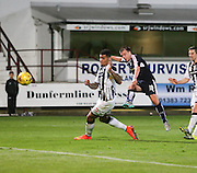 Paul McGowan fires in a shot which was brilliantly saved by Dunfermline keeper Sean Murdoch - Dunfermline Athletic v Dundee - Scottish League Cup at East End Park<br /> <br />  - © David Young - www.davidyoungphoto.co.uk - email: davidyoungphoto@gmail.com