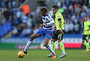 Reading defender Michael Hector (8) during the Sky Bet Championship match between Reading and Brighton and Hove Albion at the Madejski Stadium, Reading, England on 31 October 2015.