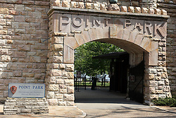 July 2007: Point Park, National Park Service.  Attractions near Chattanooga Tennessee. Point Park, National Park Service - Lookout Mountain, TN.