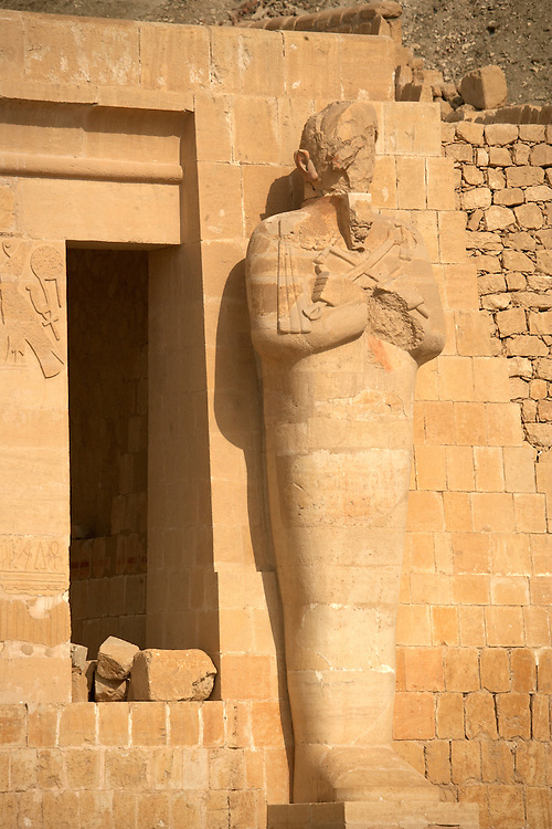 Statue at Hatshepsut Temple at Deir al-Bahri, Egypt