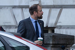 Met police officer Oliver Darby arrives at Inner London Crown Court where he faces charges of voyuerism after allegedly spying on a female police officer in the shower. London, November 30 2018.