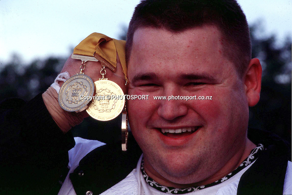 New Zealand weighlifter Darren Liddel who won a gold medal at the Commonwealth Games, 1998 , Kuala Lumpur, Malaysia.