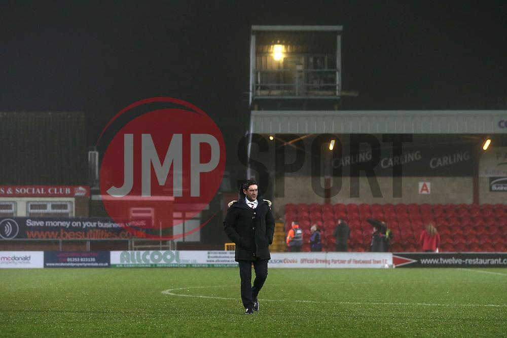 Bristol City head coach Lee Johnson  - Mandatory by-line: Matt McNulty/JMP - 17/01/2017 - FOOTBALL - Highbury Stadium - Fleetwood,  - Fleetwood Town v Bristol City - Emirates FA Cup Third Round Replay