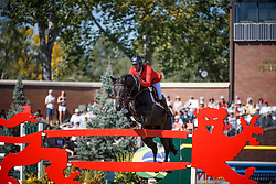 Smits Edwin, (SUI), Copain Du Perchet<br /> BMO Nations Cup<br /> Spruce Meadows Masters - Calgary 2015<br /> © Hippo Foto - Dirk Caremans<br /> 12/09/15