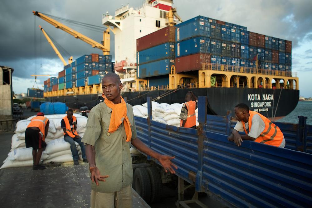 Mombassa Port..Photo: Tom Pietrasik.Mombassa, Kenya. 2011