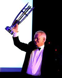 Bristol Sport Founder Steve Lansdown with a replica of the Championship Rugby Trophy - Mandatory by-line: Robbie Stephenson/JMP - 08/12/2016 - SPORT - Ashton Gate - Bristol, England  - Bristol Sport Gala Dinner