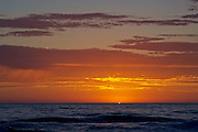 Sunset over the Pacific,  San Diego California.