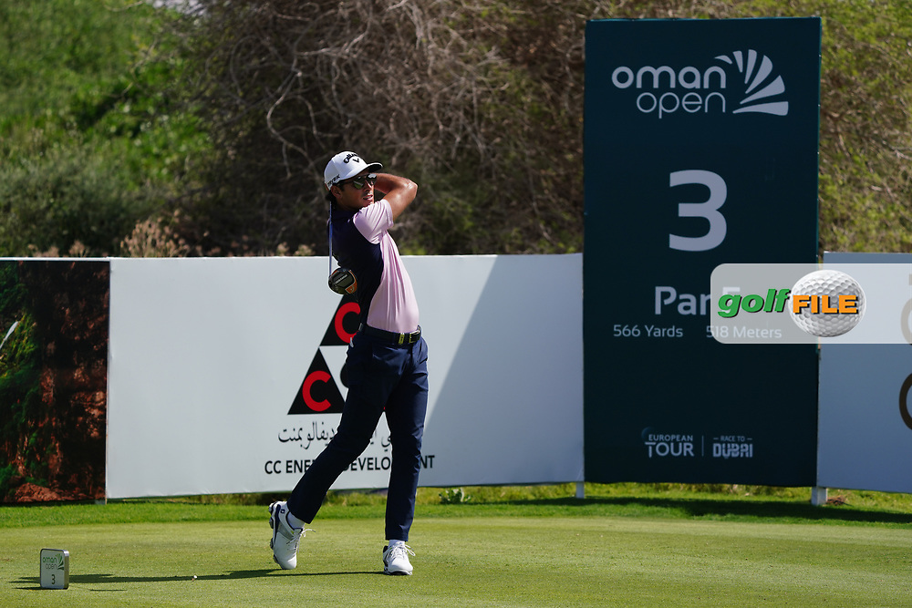 Carlos Pigem (ESP) on the 3rd during Round 2 of the Oman Open 2020 at the Al Mouj Golf Club, Muscat, Oman . 28/02/2020<br /> Picture: Golffile | Thos Caffrey<br /> <br /> <br /> All photo usage must carry mandatory copyright credit (© Golffile | Thos Caffrey)