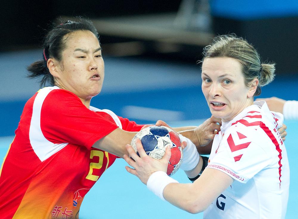 London Handball Cup - China vs Poland - Jiaqin Zhao (CHN), Kaja Zalenczna (POL)