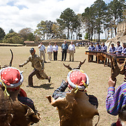 Pres. George W. Bush and Guatemalan Pres. Oscar Berger view traditional Guatemalan cultural activities in Iximche, Guatemala, Monday, March 12, 2007.<br /> <br /> Photo by Khue Bui