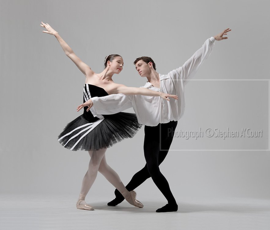 Studio photography with students of the New Zealand School of Dance in May 2012.