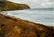 aerial and ground views of  St. Eustatius, (Statia) a volcanic island in the Netherland Antilles