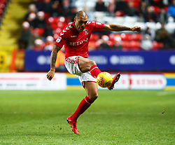 December 23, 2017 - London, United Kingdom - Charlton Athletic's Josh Magennis  in action.during Sky Bet  League One match between Charlton Athletic  against Blackpool at The Valley Stadium London on 23 Dec  2017  (Credit Image: © Kieran Galvin/NurPhoto via ZUMA Press)