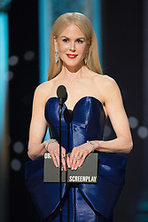 March 4, 2018 - Hollywood, California, U.S. - Nicole Kidman presents the Oscar for Best Original Screenplay during the live ABC Telecast of The 90th Oscars at the Dolby Theatre in Hollywood.<br /> (Credit Image: ? Aaron Poole/AMPAS via ZUMA Wire/ZUMAPRESS.com)