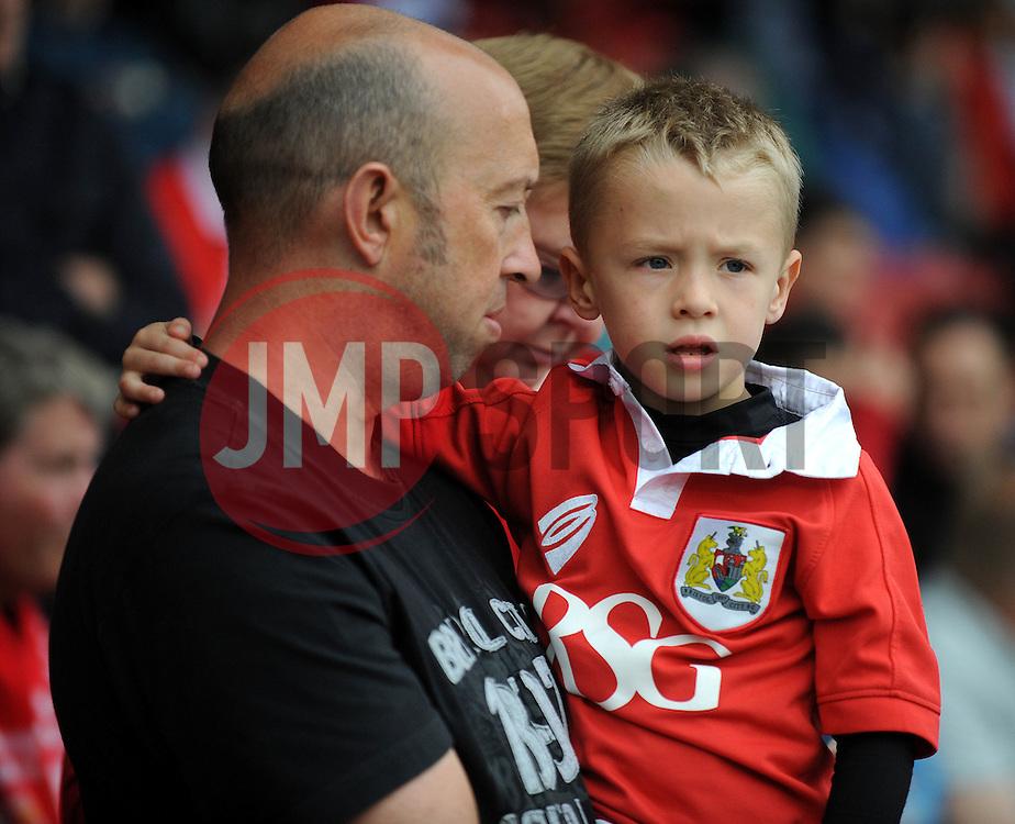 Bristol City fans - Photo mandatory by-line: Dougie Allward/JMP - Mobile: 07966 386802 - 27/09/2014 - SPORT - Football - Bristol - Ashton Gate - Bristol City v MK Dons - Sky Bet League One