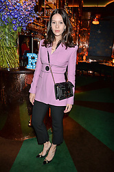 JESSAMINE BLISS BELL at a dinner hosted by Roger Vivier to celebrate The Prismick Denim by Camillle Seydoux held at Casa Cruz, 123 Clarendon Road, London on 17th March 2016.
