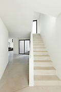 Architecture, interior of a modern house, staircase