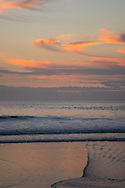 Sunset over the Santa Monica Bay and patterns in the ocean. Santa Monica, CA 1.9.15