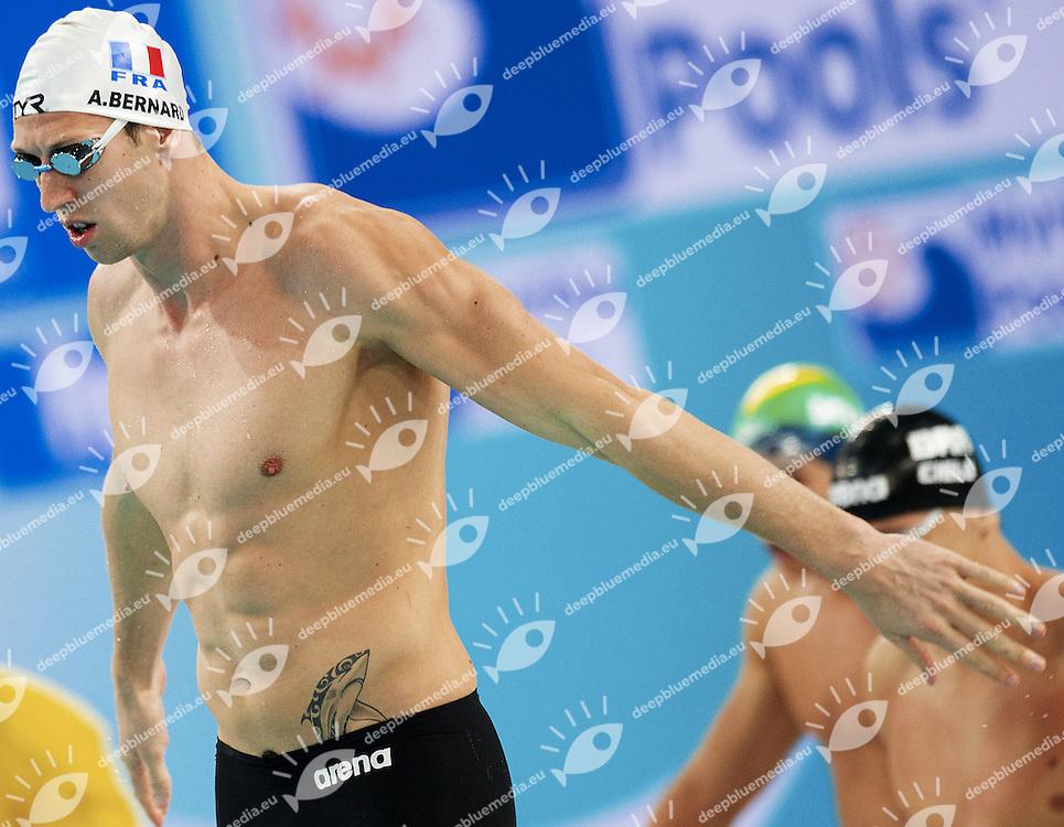 FINA World Swimming Short Couse Championships.Dubai (UAE) 15-19 Dec.2010.Day 01.Alain Bernard (FRA).4x100 Free M..Nuoto _ campionati mondiali FINA 2010 Dubai.giorno 01.Photo G.Scala/deepbluemedia.eu