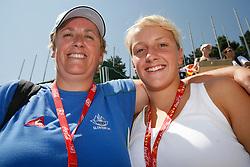 Petric Karmen and her daughter Nika Karlina at swimming competition of EYOF 2007 (European Youth Olympic Festival) in Belgrade, 21. - 28. July 2007,  Tasmajdan pool, Belgrade, Serbia. (Photo by Vid Ponikvar / Sportida)