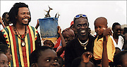 Baaba Maal and Luciano in Podor Senegal