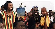 Baaba Maal and Luciano in Podor Senegal