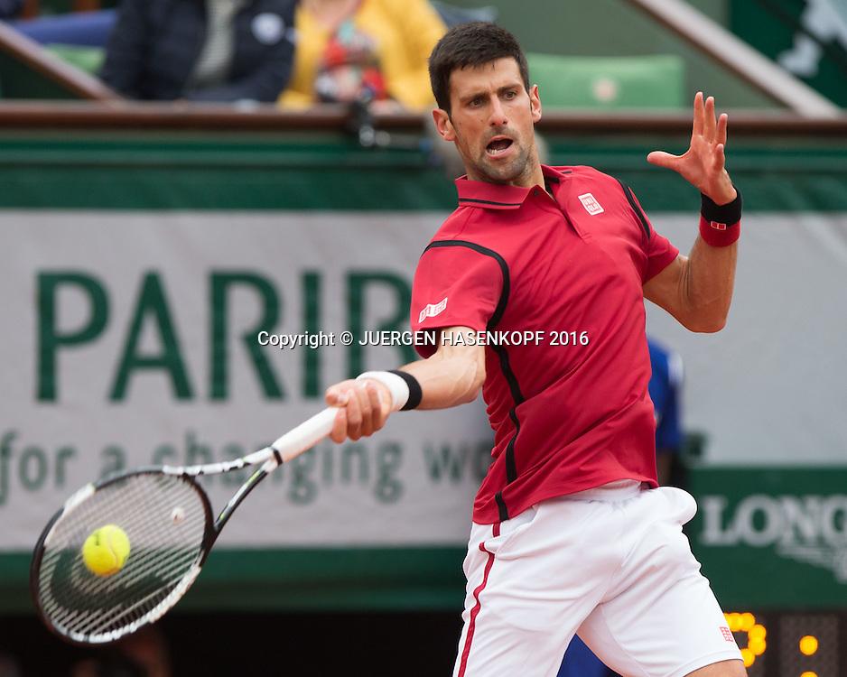 Novak Djokovic (SRB)<br /> <br /> Tennis - French Open 2016 - Grand Slam ITF / ATP / WTA -  Roland Garros - Paris -  - France  - 1 June 2016.