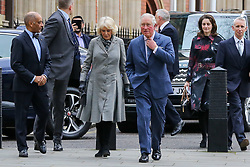 © Licensed to London News Pictures. 01/01/2019. London, UK. Prince Charles, Prince of Wales and Camilla, Duchess of Cornwall arrives at Supreme Court of the United Kingdom. Photo credit: Dinendra Haria/LNP