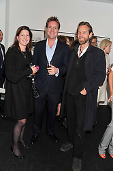 Left to right, NICOLA BECKWITH, HENRY BECKWITH and JOTH SHAKERLEY at a private view of the late Patrick Lichfield: Nudes at The Little Black gallery, 13A Park Walk, London SW10 on 26th April 2012.