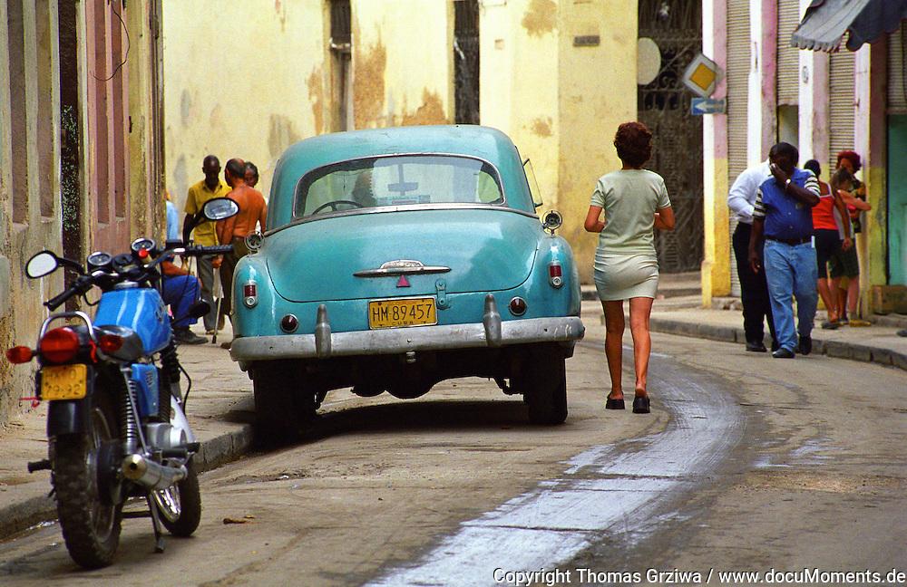 Strassenszene Havanna, Kuba, 2000