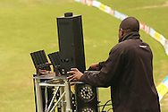 Technicians work on the fireworks during the Central Stags training session held at St Georges Park in Port Elizabeth on the 20 September 2010..Photo by: Shaun Roy/SPORTZPICS/CLT20